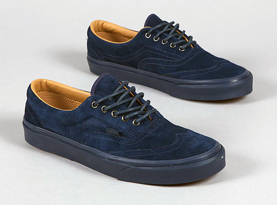 69aa8cb2489b Vans Era Wingtip CA Suede Dress Blue