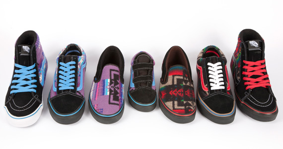 """654377a826f283 Nibwaakaawin X PENDLETON X VANS – """"2012 All Nations Skate Jam"""" Pack ..."""
